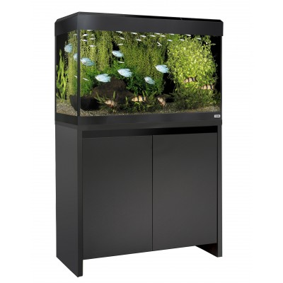 Fluval Roma 125 LED Tank and Cabinet in Black