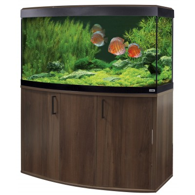 Fluval Vicenza 260 LED Aquarium and Cabinet in Walnut