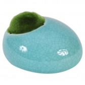 Fluval Ceramic Ornament with Moss - Blue - Small - 10 x 8.4 x 5.9 cm