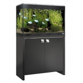 Fluval Roma 125 Tank and Cabinet in Black