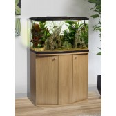 Marina Vue 87 Aquarium and Cabinet in Oak