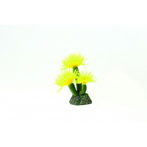 Natureform Feather Duster Yellow - Sabellastarte sp. Synthetic Coral 3.5 x 3 x 8cm