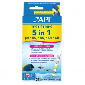 API 5 in 1 Test Strips 25 Test Strips