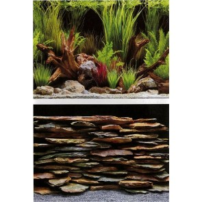 Marina Planted Oasis and Slate Wall Background 18""