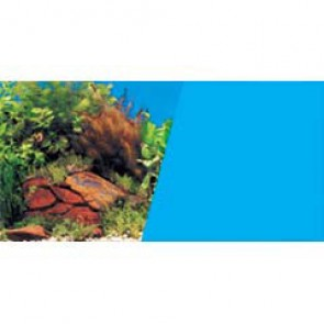 "Marina Aquarium Background Plants and Rocks / Light Blue 18"" per ft"