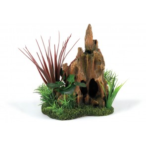 Classic Stump Pinnacle Garden Aquarium Ornament