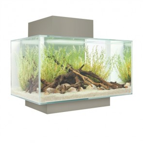 Fluval Edge Aquarium 23 litre in Pewter with FREE HEATER!