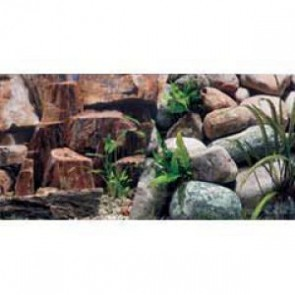 "Marina Aquarium Background Rocky Canyon / Riverbed 18"" per ft"