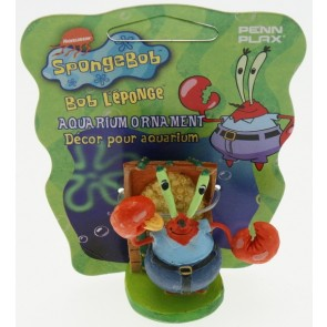 Penn Plax - Sponge Bob Square Pants Mini Mr Krabs Ornament