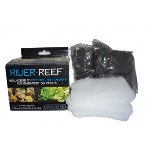 River Reef 48 Filter Felt Pads and Carbon