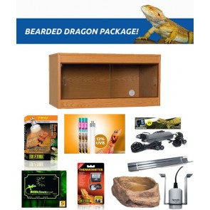Complete Aquatics Bearded Dragon Package 48'' x 18'' x 18'' in Oak