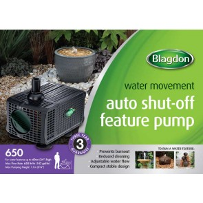 Blagdon 650 Auto Shut Off Feature Pump