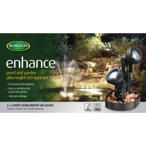 Blagdon Enhance LED Pond Lighting (5 x 3 watt LED)