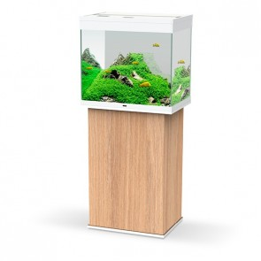Ciano Emotions Pro 60 Aquarium and Cabinet Amber Wood in White