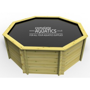 10ft Octagonal Raised Wooden Pond