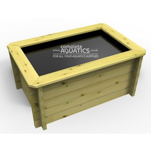 1.5m x 1m Rectangular Raised Wooden Pond