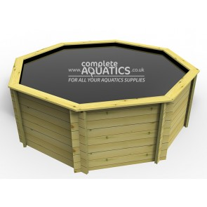 12ft Octagonal Raised Wooden Pond