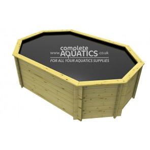 12ft x 8ft Octagonal Raised Wooden Pond