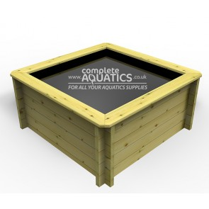 1.5m x 1.5m Rectangular Raised Wooden Pond
